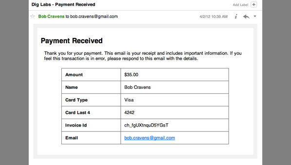 Stripe WordPress Plugin Dig Labs – Payment Receipts